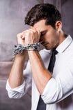 Atrapado en cadenas Foto de archivo libre de regalías