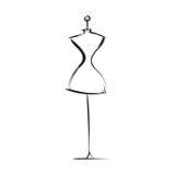 Atrapy sukni ręki rysunek Zdjęcie Stock