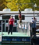 Atraque el acontecimiento grande del aire del campeonato nacional del perro Imagen de archivo