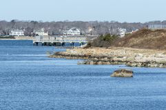 Atraque en la universidad de la escuela del ` s de Massachusetts Dartmouth para Marin Imagen de archivo