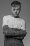 Atratcive model in casual sweater. Stock Images