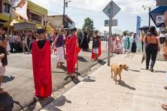 Através da celebração de Crucis Foto de Stock Royalty Free