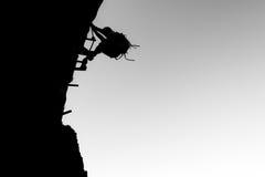 Através da escalada do ferrata Imagem de Stock