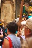 Através da peregrinação de Dolorosa Foto de Stock Royalty Free