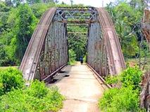 Através da ponte Fotografia de Stock