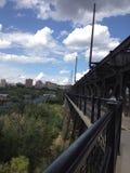 Através da ponte Imagem de Stock Royalty Free