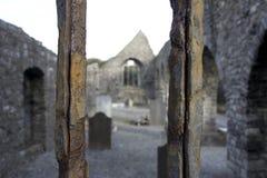 Através das barras oxidadas Imagens de Stock