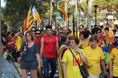Através de Catalana, 11 09 2014 Fotografia de Stock
