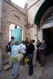Através de Dolorosa, 9as estações da cruz, Jerusalém Imagem de Stock Royalty Free