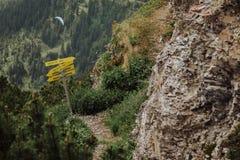 Através de Ferrata que escala em Áustria Fotos de Stock