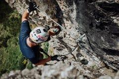 Através de Ferrata que escala em Áustria Imagem de Stock