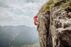 Através de Ferrata que escala em Áustria Imagens de Stock