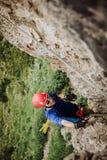 Através de Ferrata que escala em Áustria Imagem de Stock Royalty Free