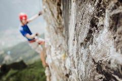 Através de Ferrata que escala em Áustria Imagens de Stock Royalty Free