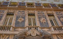 Através de Garibaldi - Palazzo Lomellino de Genoa, Itália fotografia de stock