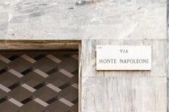 Através de Monte Napoleone Foto de Stock Royalty Free