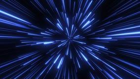 Através do espaço, starfield Fundo sem emenda das partículas do sumário do laço video estoque