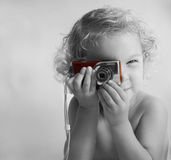 Através do olho de uma criança Imagens de Stock