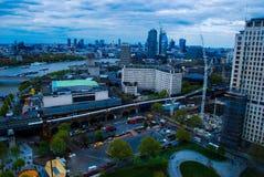 Através do olho do ` s de Londres Fotos de Stock