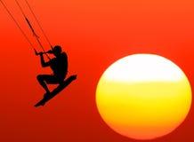 Através do sol dentro amanhã! Imagens de Stock
