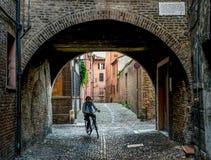 Através do túnel - Ferrara foto de stock royalty free