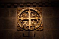 Através do sinal dos crucis Foto de Stock Royalty Free