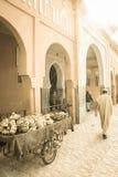 Street in the souk. Ouarzazate. Morocco. Royalty Free Stock Photo