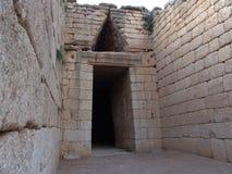Atreus Tholos Tomb. The famous Atreus Tholos Tomb with the Trreasure Royalty Free Stock Photo