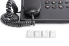 Atrevimiento para llamar el teléfono imagen de archivo libre de regalías