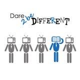 Atrevimiento a ser diferente ilustración del vector