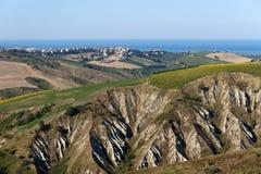 Atri Natural Park (Abruzzi, Italy), landscape. Atri Natural Park (Teramo, Abruzzi, Italy), landscape at summer with calanques royalty free stock photo