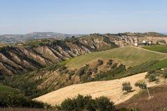 Atri Natural Park, with calanques. Atri Natural Park (Teramo, Abruzzi, Italy), landscape at summer stock photos