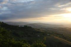 Atri-Panorama Stockfoto