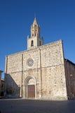Atri (Teramo, Abruzzi, Italy), cathedral. Facade stock photo