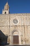 Atri (Teramo, Abruzzi, Italy), cathedral. Facade stock images