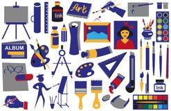 Atribui ícones da arte Imagem de Stock Royalty Free