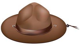 Atributo da guarda florestal - chapéu ilustração stock