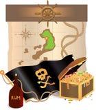 Atributo del pirata ilustración del vector