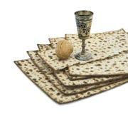 Atributos de feriados judaicos de Seder da páscoa judaica fotografia de stock