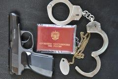 Atributos de la policía Imagenes de archivo