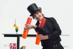 Atributos do bom empregado de bar Fotografia de Stock Royalty Free