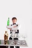 Atributos do bom empregado de bar Fotos de Stock Royalty Free