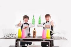 Atributos do bom empregado de bar Imagem de Stock