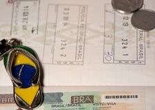 Atributs des Reisens in Brasilien Lizenzfreies Stockbild