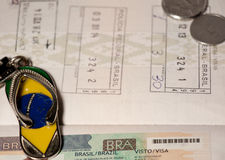 Atributs of traveling in Brasil Royalty Free Stock Image
