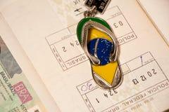 Atributs van het reizen in Brazilië Stock Fotografie