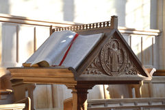 Atril de la iglesia Fotografía de archivo libre de regalías