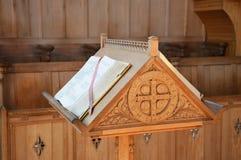 Atril de la iglesia Imagenes de archivo