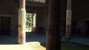 Atrio de la casa de Pompeya metrajes