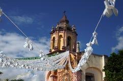 Atrio del ³ n de Conca Church de Misià fotos de archivo
